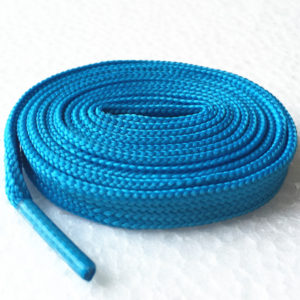 Flade snørebånd, lys blå